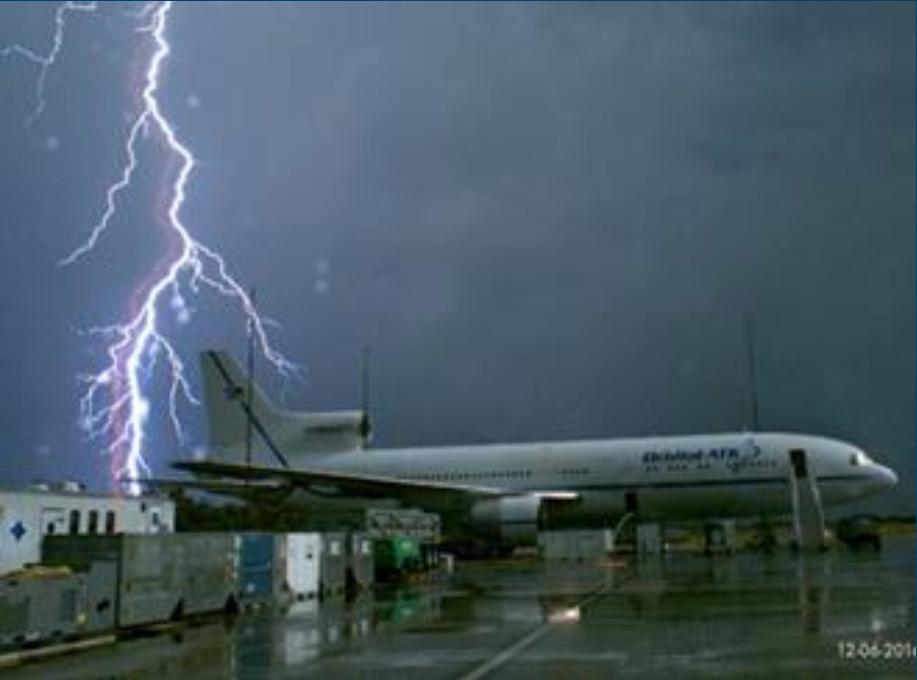 airport lightning strike