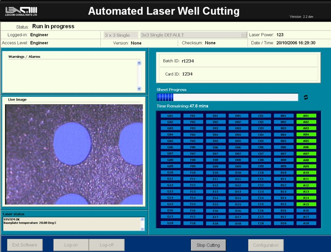 LabVIEW FP Automated Laser Well Cutting